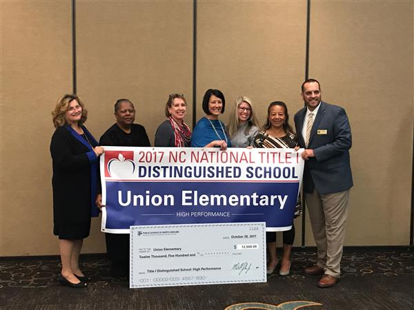 Union Elementary wins the National Title I Distinguished School Award for High Sustained Student Performance!