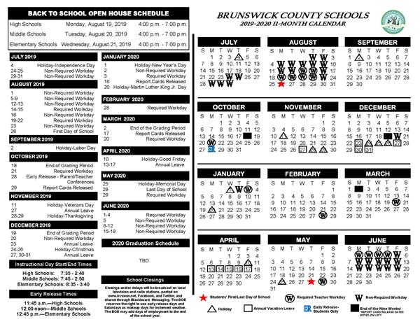Cards Schedule 2020 2019 2020 School Calendars Now Available