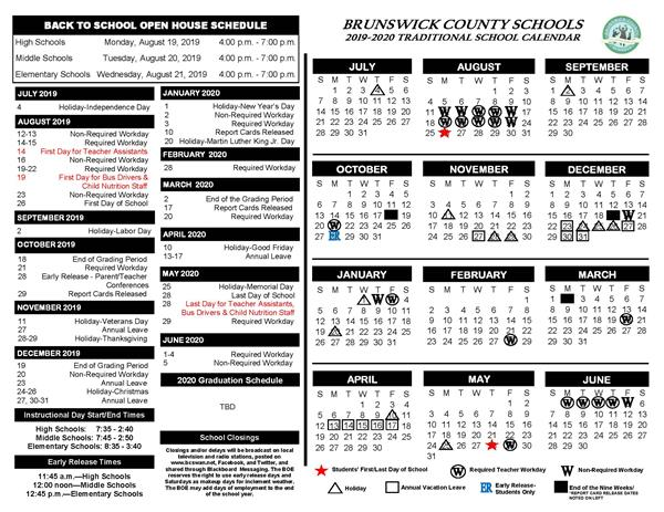 Calendario 2020 Word.2019 2020 School Calendars Now Available