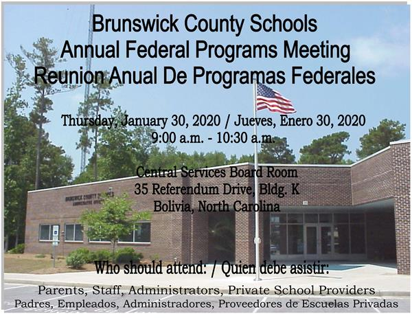 Federal Programs Meeting Flyer