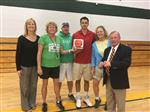 SMS P.E. Department receives MVP Game Ball for March 9