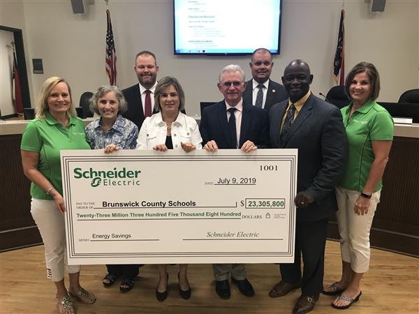 Schneider Electric and Board Members and Superintendent