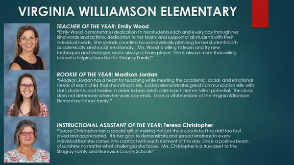 Virginia Williamson winners