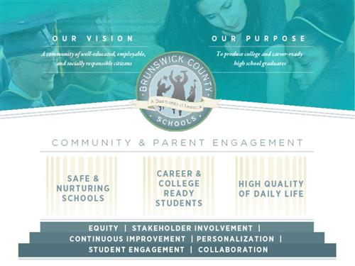 community & parent engagement to help provide safe schools, career ready students, and a high quality of life