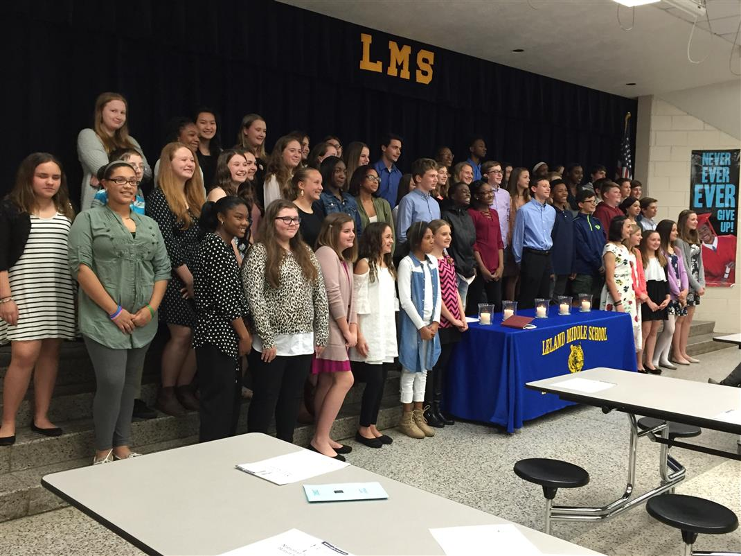 leland middle homepage national junior honor society induction ceremony